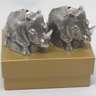 Earthangel Salt Pepper Cellars Rhino
