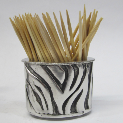 Earthangel Toothpick Holder Zebra