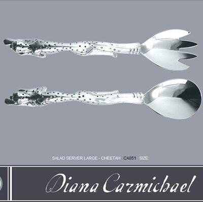 Diana Carmichael Salad Servers Cheetah