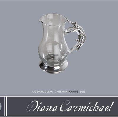 Diana Carmichael Clear Jug Cheetah 500ml