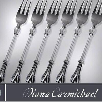 Diana Carmichael Cake Forks Usiba set of 6