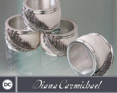 Diana Carmichael - Napkin Rings Usiba (4) Ivory