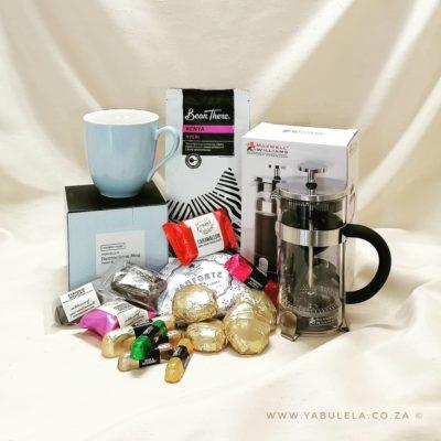 Gift Hamper Coffee Break Herringbone Pastel Blue